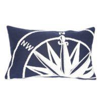 Liora Manne Compass Marine 12-Inch x 20-Inch Outdoor Throw Pillow