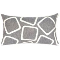 Liora Manne Squares 12-Inch x 20-Inch Outdoor Throw Pillow in Silver