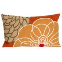 Liora Manne Disco 12-Inch x 20-Inch Outdoor Throw Pillow in Orange