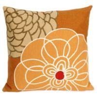 Liora Manne Disco 20-Inch x 20-Inch Outdoor Throw Pillow in Orange
