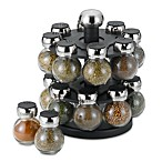 Olde Thompson 16-Jar Filled Spice Rack in Orbit