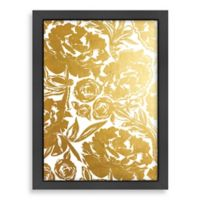 Americanflat Khristian Howell Arianna in Gold Digital Print Wall Art with Black Frame
