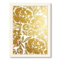 Americanflat Khristian Howell Arianna in Gold Digital Print Wall Art with White Frame