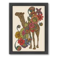 Americanflat Valentina Ramos Easy Camel Digital Print Wall Art with Black Frame