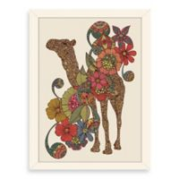 Americanflat Valentina Ramos Easy Camel Digital Print Wall Art with White Frame