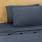 Brooklyn Flat Extra Soft Jersey Queen Sheet Set in Denim Blue