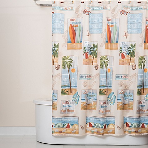 Beach Time Shower Curtain - Bed Bath & Beyond