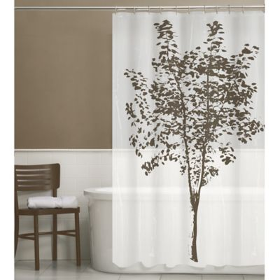 brown and white shower curtain. Arbor PEVA Shower Curtain in Brown Buy Curtains from Bed Bath  Beyond
