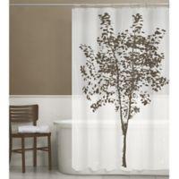 Arbor PEVA Shower Curtain In Brown