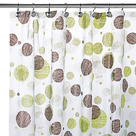 PEVA Textured Circles Shower Curtain - Bed Bath & Beyond