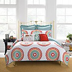 Anthology™ Bungalow Reversible Full/Queen Quilt in Coral/White