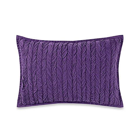Anthology Minka Textured Oblong Throw Pillow In Purple