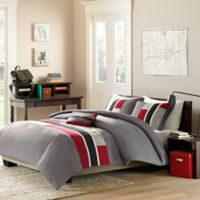 Mizone Pipeline Reversible Twin/Twin XL Comforter Set in Red