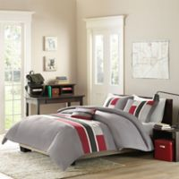 Mizone Pipeline Full/Queen Comforter Set in Red