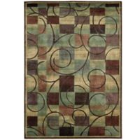 Nourison Expressions Geometric 5-Foot 3-Inch x 7-Foot 5-Inch Area Rug in Brown