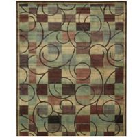Nourison Expressions Geometric 2-Foot x 2-Foot 9-Inch Area Rug in Brown