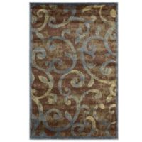 Nourison Expressions Swirls 3-Foot 6-Inch x 5-Foot 6-Inch Area Rug in Multicolor