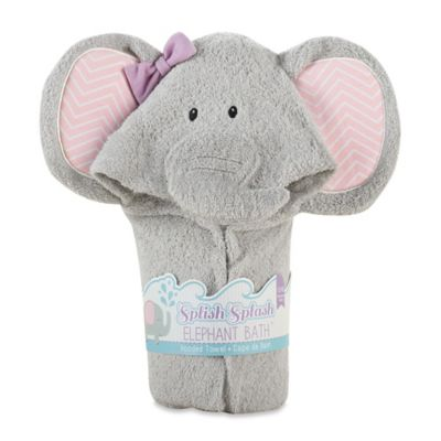 Baby Aspen Splish Splash Elephant Hooded Spa Towel