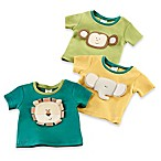 Baby Aspen Size 0-6M 3-Pack Safari Friends Tiny T-Shirt