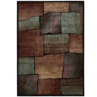 Nourison Expressions Squares 5-Foot 3-Inch x 7-Foot 5-Inch Area Rug in Multicolor