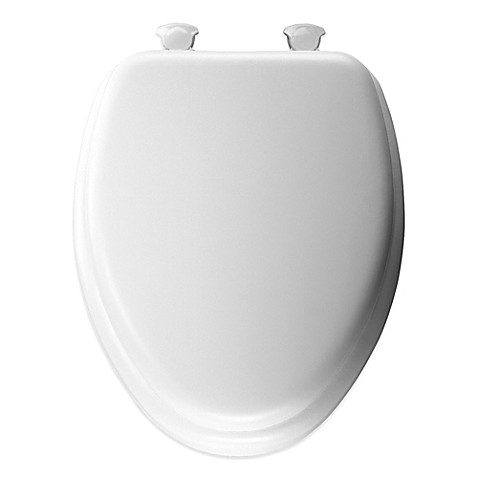 Mayfair Cushioned Vinyl Soft Elongated Toilet Seat With