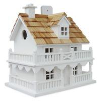 Home Bazaar Novelty Cottage Birdhouse in White