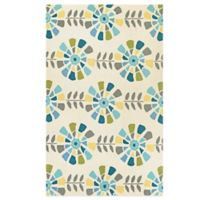Couristan® Beachfront Collection Flower Blossoms 8-Foot x 11-Foot Rug