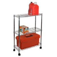 Oceanstar 3-Tier Shelving All-Purpose Utility Cart in Chrome