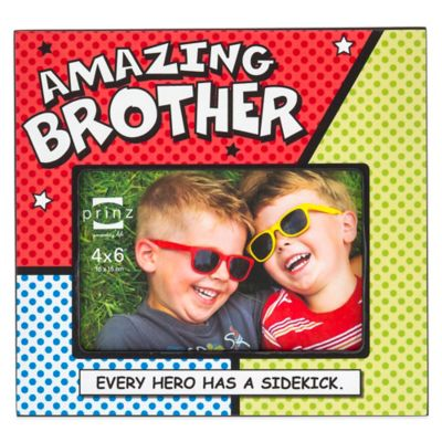 prinz dynamic duos 4 inch x 6 inch amazing brother picture frame