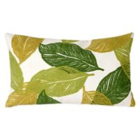 Liora Manne Mystic Leaf 12-Inch x 20-Inch Outdoor Throw Pillow in Green