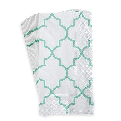 Lattice 16 pack 3 ply paper guest towels set of 16 bed - Disposable guest towels for bathroom ...