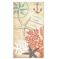 Coastal Coral 16-Count 3-Ply Paper Guest Towels