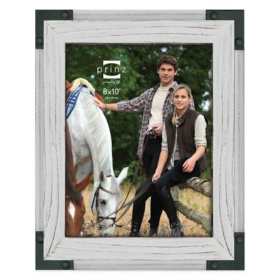 prinz brody 8 inch x 10 inch wood picture frame in white