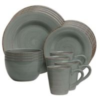 Sonoma 16-Piece Dinnerware Set in Slate Blue