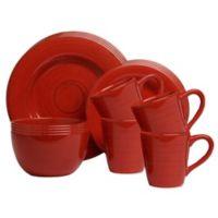 Sonoma 16-Piece Dinnerware Set in Red