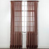 Elegance Sheer 84-Inch Window Curtain Panel in Chocolate