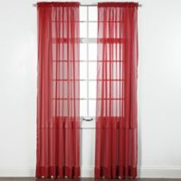 Elegance Sheer 84-Inch Window Curtain Panel in Claret