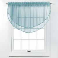 Elegance Voile Layered Ascot Valance in Spa