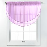 Elegance Voile Layered Ascot Valance in Lilac