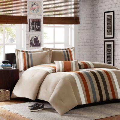 mizone sawyer fullqueen comforter set in khaki