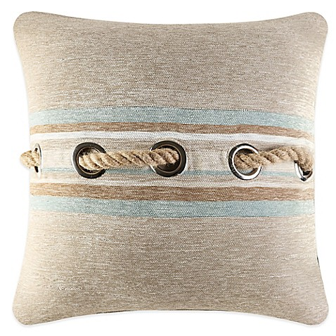 Queen Street Decorative Pillows : J. Queen New York Newport Jute Rope Square Throw Pillow - Bed Bath & Beyond