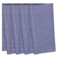 Chambray Napkins in Navy Blue (Set of 4)