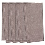 Chambray Napkins in Brown (Set of 4)