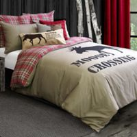 Lamington Reversible Full/Queen Duvet Cover in Taupe