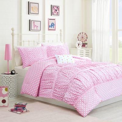 mizone lia twintwin xl comforter set in pink - Twin Bed Comforters