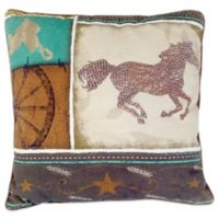 Horse Square Throw Pillow