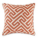 Make-Your-Own-Pillow Keyes Square Throw Pillow Cover in Spice