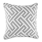Make-Your-Own-Pillow Keyes Square Throw Pillow Cover in Light Grey