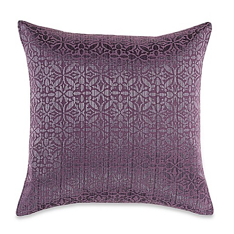 Throw Pillow Covers Bed Bath Beyond : MYOP Orchid Square Throw Pillow Cover in Purple - Bed Bath & Beyond