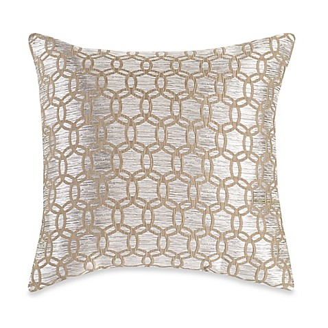 Myop Throw Pillow Covers : MYOP Strie Circles Square Throw Pillow Cover in Taupe - Bed Bath & Beyond